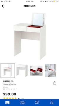white wooden single pedestal desk screenshot Morgantown, 26505