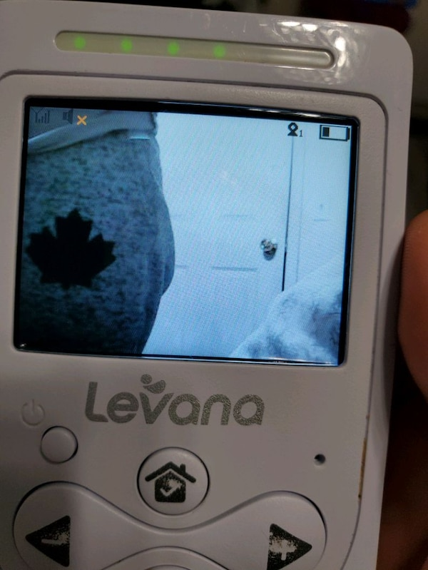Levana baby monitor with night vision and talk.  6bf9df41-1439-4d38-86bb-aac0e5fe4441