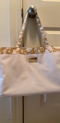 Versace White and brown floral leather tote bag Sterling, 20166