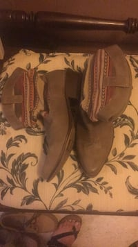 brown and black leather cowboy boots Hardinsburg, 40143