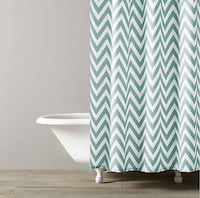 "New! Kassatex Spa Blue Chevron Fabric Shower Curtain. Paid $42.00. Size 72"" x 72. Purchased it from Macy's. Was going to use it for staging a property. I no longer need it. I don't have the original packaging. It's in excellent condition! Washington, 20002"