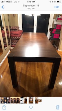 8 person High Top Table (real wood). This is a great table and only reason we have to part with it is b/c we are downsizing our house so need something that take up less space....I have gotten nothing but amazing compliments on this piece and I hate that  Newark, 07105