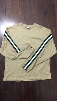 Brand new urban outfitters green/white/sand sweater with tags