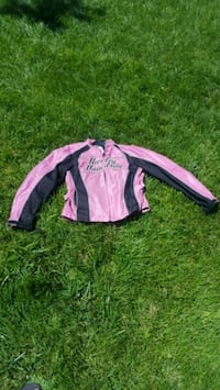 pink and black zip-up jacket size small Roy, 84067