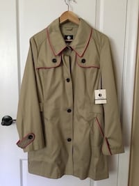 Fall and spring Trench coat size large with tag Toronto, M6L 1R7