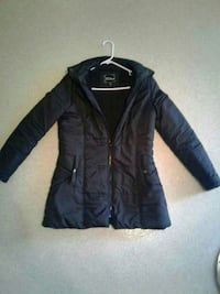 Large  black zip-up jacket very comfortable
