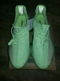 Green Glo authentic Adidas yeezy boost 350 V2 mens size 13 new Worcester