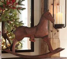 Pottery barn Rocking Horse Sculpture