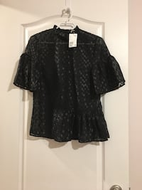 NEW H&M Black Flounced Top (size 4) Calgary, T3P 0A3