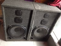 two black 2-way speakers Kitchener, N2M 2G2