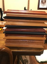 Brown wooden photo frame lot