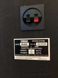 Yamaha 'Monitors' NS A636, Like New Brea, 92821