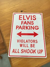 Elvis Metal Sign. 8 inches by 11 1/2 inched Cochrane, T4C 1K6