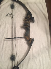 Camo compound bow.