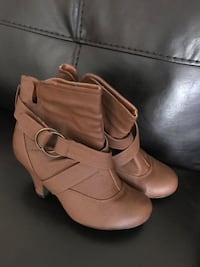 pair of brown leather boots Marina, 93933