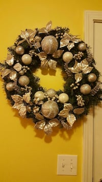 green wreath with silver decor Douglasville, 30135