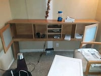 brown wooden desk with hutch Lynnwood, 98036