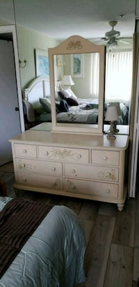 white wooden dresser with mirror Sarasota, 34234