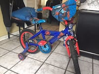 Spider-Man toddler bike with training wheels like new condition $50 Toronto, M6H 3Z8