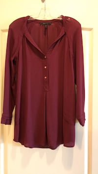 Burgundy long top - great for work but also great over leggings! Vaughan, L4J 0A5