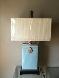 TURQUOISE AND SILVER TABLE LAMP NEW  New York, 11225