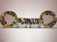 Strawberry soup cup mugs with plates set of 2 Abbotsford, V4X