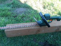 Electric hedge trimmer.  Kelso, 98626