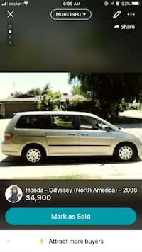 Honda oddessey 2006 only 155.xxx 7 passengers clean title nothing wrong with it just need a smaller car Visalia, 93277
