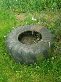 Old tractor tire good for decoration/tire swing
