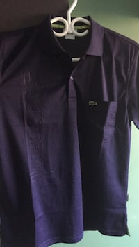 purple Lacoste button-up t-shirt Ajax, L1S 5B8