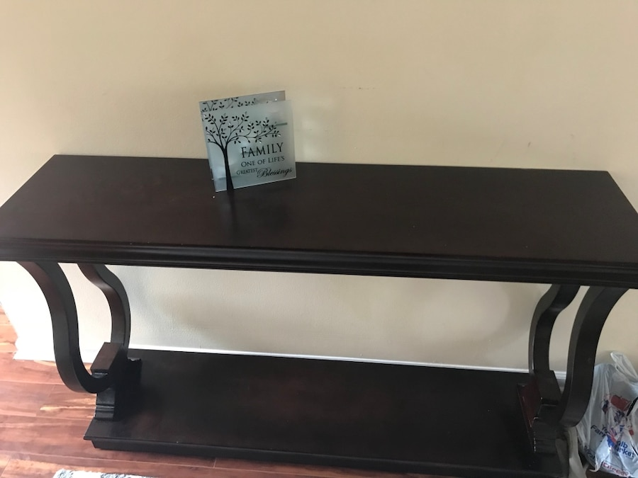brukt brown wooden console table brand new til salgs i stone rh no letgo com