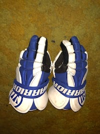 Blue and white warrior lacrosse gloves Boonsboro, 21713