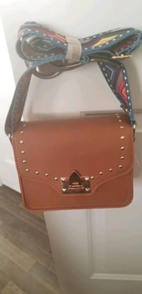 brown leather studded crossbody bag Brampton, L6R