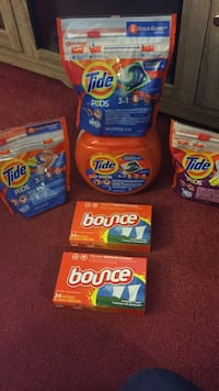 Tide Pods & Bounce lot 94 Pods total