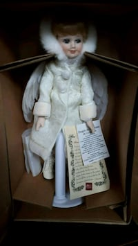Beautiful Christmas white porcelain doll London, N5Y 4L1