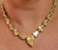 Yellow canary zirconia necklace Maryland