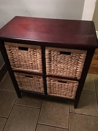 Cabinet with four wicker drawers  3495 km