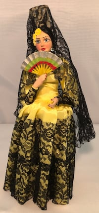yellow and black floral long-sleeved dress Fort Washington, 20744