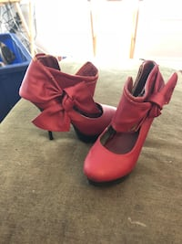 pair of red suede platform stilettos Oakville, L6M 3Z6