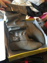 Brand new grey candies boots