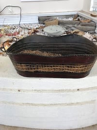Metal decorative basket. We use beside pellet stove for pellets.  Accokeek, 20607
