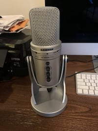 Samson G-Track Pro (Silver) with Pop Filter (Used Once, With Box)