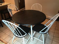 round brown wooden table with four chairs dining set Long Valley, 07853