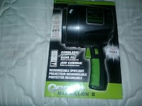 black Rechargeable Spotlight with pack 2327 mi