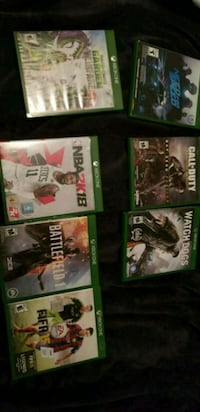five Xbox One game cases Riverside, 92507