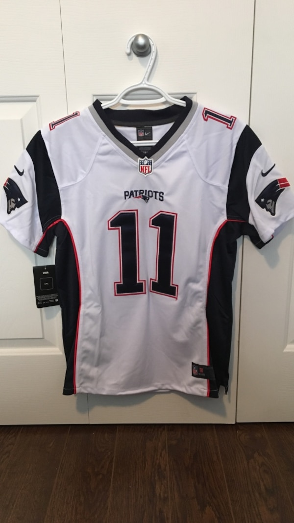 Used White new england patriots 11 nfl jersey for sale in Ottawa - letgo 6fdee4fa3