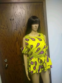 African wax print top size M/L New Hope