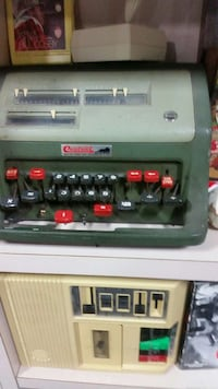green vintage cash register Fairfax