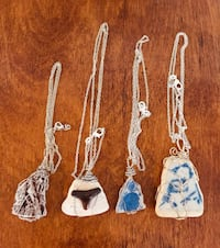 Pottery necklaces with chains....4 of them...see pics Welland, L3C