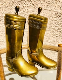 Mid Century Solid Brass Cowboy Boot Bookends Las Vegas, 89123